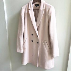 EUC ZARA TRF  Light Blush Pink Coat sz XL/10